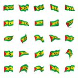 Sao Tome and Principe flag, vector illustration. On a white background Stock Photos