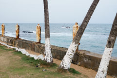 Sao Tome and Principe fort. Landscape Royalty Free Stock Images