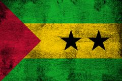 Sao Tome And Principe. Grunge and dirty flag illustration. Perfect for background or texture purposes vector illustration