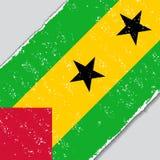 Sao Tome and Principe grunge flag. Vector illustration. Royalty Free Stock Image