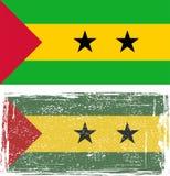 Sao Tome and Principe grunge flag. Vector Royalty Free Stock Photo