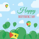 Sao Tome and Principe Independence Day Flat. Sao Tome and Principe Independence Day Flat Patriotic Design. Sao Tomean Flag Balloons. Happy National Day Vector Royalty Free Stock Photos