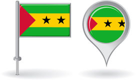 Sao Tome and Principe pin icon, map pointer flag Royalty Free Stock Image