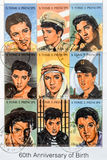 Sao Tome and Principe postage stamp. 1994 complete set of 9 Elvis Presley - 60th Anniversary of his Birth postal stamps Royalty Free Stock Photography