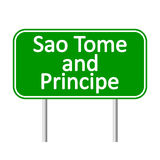 Sao Tome and Principe road sign. Stock Photo