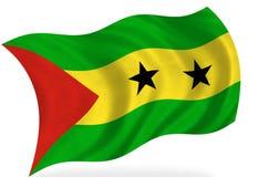 Sao Tome And Principe. Flag, on white stock illustration