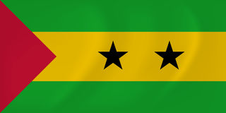 Sao Tome and Principe waving flag Stock Photography