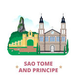 Sao- Tome und Principelanddesignschablone flach Lizenzfreie Stockbilder