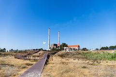 Free Sao Torpes Thermal Power Station Near Sines, Which Is A Local Attraction As The Water In The Beach Is Heated By The Power Plant Royalty Free Stock Photo - 153743135
