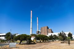 Free Sao Torpes Thermal Power Station Near Sines, Which Is A Local Attraction As The Water In The Beach Is Heated By The Power Plant Royalty Free Stock Image - 153743196