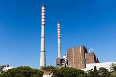Free Sao Torpes Thermal Power Station Near Sines, Which Is A Local Attraction As The Water In The Beach Is Heated By The Power Plant Stock Photos - 153743303