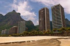 Sao tropical Conrado Beach en Rio de Janeiro photos stock