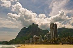 Sao tropical Conrado Beach en Rio de Janeiro photographie stock libre de droits