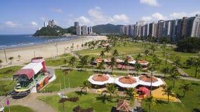 Sao Vicente Beach Brazil, härlig strand i Sydamerika Royaltyfri Bild