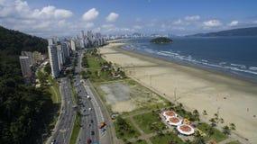 Sao Vicente Beach Brazil, härlig strand i Sydamerika Royaltyfri Fotografi