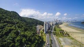 Sao Vicente Beach Brazil, mooi strand in Zuid-Amerika Stock Foto's