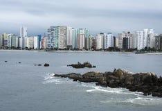 sao vicente Brasil da cidade da praia Fotografia de Stock