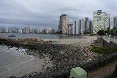 sao vicente Brasil da cidade da praia Imagens de Stock