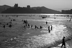 Sao Vicente, Brazil. Late afternoon on the beach of Sao Vicente, Brazil Royalty Free Stock Photography