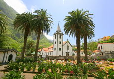 Church and cemetery in Sao Vicente Royalty Free Stock Image