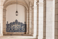 Sao vicente de fora architectural details in Lisbon, Portugal Royalty Free Stock Photography