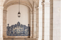 Sao vicente de fora architectural details in Lisbon, Portugal Royalty Free Stock Image