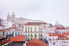 Sao Vicente de Fora, iglesia del monasterio de la cúpula de Santa Engracia Imágenes de archivo libres de regalías