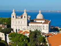 Sao Vicente de Fora in Lisbon royalty free stock photo