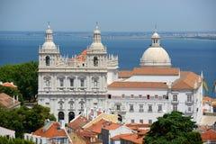 Sao Vicente de Fora, Lisbon, Portugal Stock Images