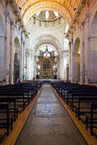 Sao Vicente de Fora Monastery Church Lisbon. Lisbon, Portugal.  September 15, 2013: Nave and altar of the church of the Sao Vicente de Fora Monastery. 17th Royalty Free Stock Image
