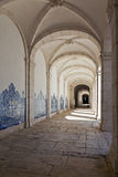 Sao Vicente de Fora Monastery Cloister Lisbon. Cloister of Sao Vicente de Fora Monastery in white limestone. Very important monument in Lisbon, Portugal. 17th Stock Photography