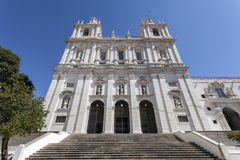 Sao Vicente de Fora Monastery Lisbon. Sao Vicente de Fora Monastery. One of the most important monuments in Lisbon. 17th Century Mannerist architecture. Lisbon Royalty Free Stock Photography