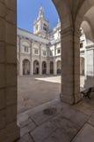 Sao Vicente de Fora Monastery Lisbon del claustro Foto de archivo