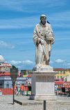 Statue of St. Vincent, the patron saint of Lisbon, Portugal Royalty Free Stock Photos