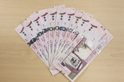 Saoedi-arabische Riyals royalty-vrije stock foto