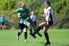Saoirse Noonan at the Women`s National League game: Cork City FC vs Galway WFC. May 12th, 2019, Cork, Ireland - Saoirse Noonan at the Women`s National League royalty free stock photo