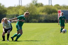 Saoirse Noonan at the Women`s National League game: Cork City FC vs Galway WFC. May 12th, 2019, Cork, Ireland - Saoirse Noonan at the Women`s National League royalty free stock photos