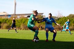 Saoirse Noonan during the Women`s National League match between Cork City FC Women and Peamount United. October 28th, 2018, Cork, Ireland: Saoirse Noonan during stock photo