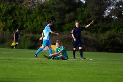 Saoirse Noonan during the Women`s National League match between Cork City FC Women and Peamount United. October 28th, 2018, Cork, Ireland: Saoirse Noonan during royalty free stock photos
