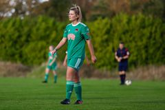 Saoirse Noonan during the Women`s National League match between Cork City FC Women and Peamount United. October 28th, 2018, Cork, Ireland: Saoirse Noonan during royalty free stock image