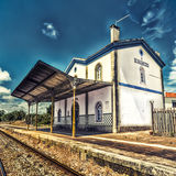 SaoMamede järnvägsstation, Portugal Royaltyfri Bild