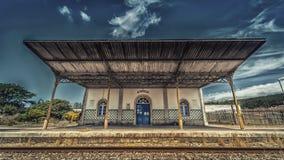 SaoMamede järnvägsstation, Portugal Royaltyfria Bilder
