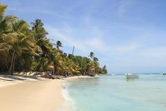 Saona海岛,加勒比海滩 图库摄影
