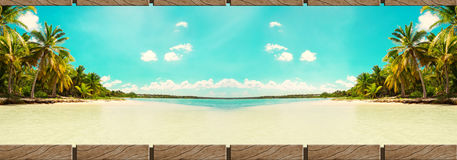 Saona ö, utomhus- bakgrund Arkivbild