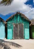 Saona Domenican共和国的Mano胡安村庄 免版税库存照片