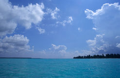 Saona island blue lagoon -Dominican republic Stock Photography