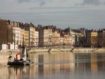 Saone em Lyon 2 Fotografia de Stock Royalty Free