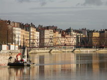 Saone in Lyon 2 Royalty Free Stock Photography