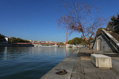 Saone in Lyon Royalty Free Stock Photography