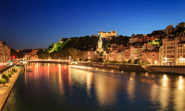 Saone at night Stock Photography